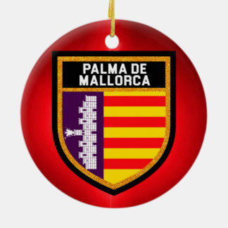 Palma de Mallorca Flag Ceramic Ornament