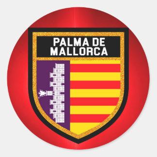 Palma de Mallorca Flag Classic Round Sticker