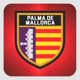 Palma de Mallorca Flag Square Sticker