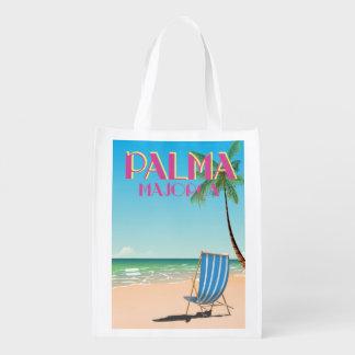Palma Majorca Beach holiday poster Reusable Grocery Bag