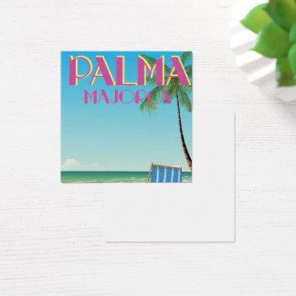 Palma Majorca Beach holiday poster Square Business Card