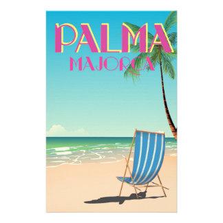 Palma Majorca Beach holiday poster Stationery Design
