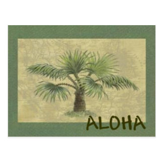 Palmas ALOHA Postcard