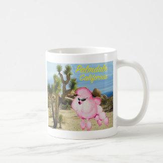 Palmdale California Pink Poodle Retro Souvenir Mug
