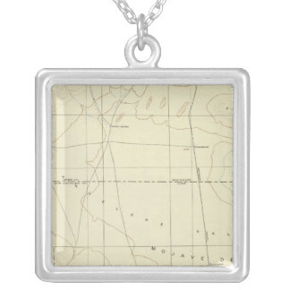 Palmdale quadrangle showing San Andreas Rift Silver Plated Necklace