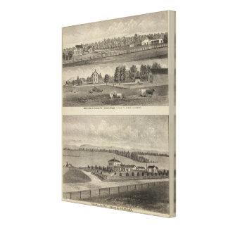 Palmer Ranch, Kansas Stretched Canvas Prints