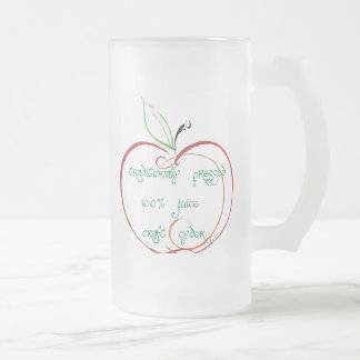 palmers upland cyder, traditionally pressed 100... frosted glass beer mug