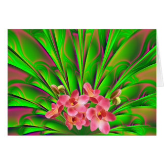 Palmesque Orchid Note Card