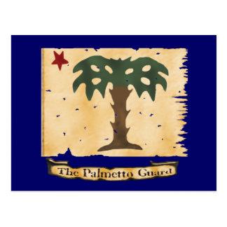 Palmetto Guard Flag Postcard