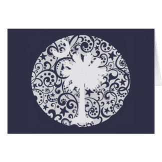 Palmetto Tree and Moon Christmas Card
