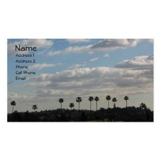 Palmiers et nuages carte de visite standard
