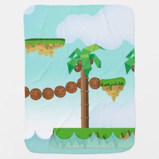 Palmiers vintages de jeu vidéo couverture de bébé