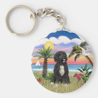 Palms - Black Portie 5bw Basic Round Button Keychain