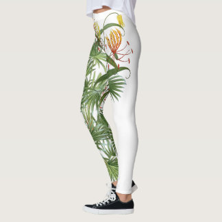 Palms & Glory Lily Flowers All Over Print Leggings