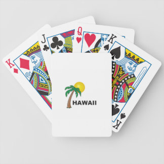 palms of hawaii bicycle playing cards