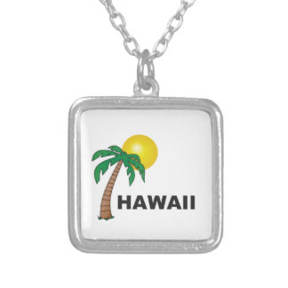 palms of hawaii silver plated necklace