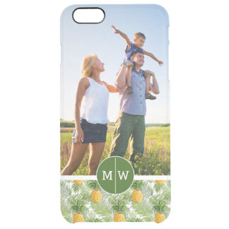 Palms & Pineapples | Add Your Photo & Monogram Clear iPhone 6 Plus Case