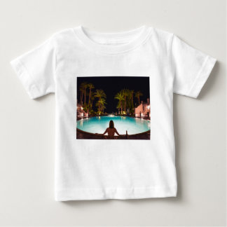 Palms, pool, woman and beer... baby T-Shirt
