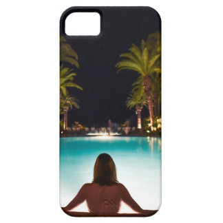 Palms, pool, woman and beer... case for the iPhone 5