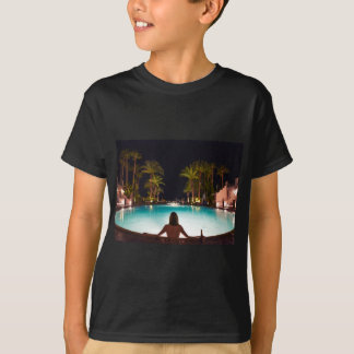 Palms, pool, woman and beer... T-Shirt