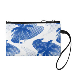 Palms with abstract water coin purse