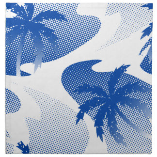 Palms with abstract water napkin