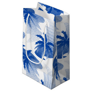 Palms with abstract water small gift bag