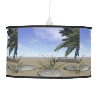 palms zen and steps pendant lamp