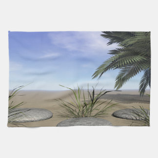 palms zen and steps towels