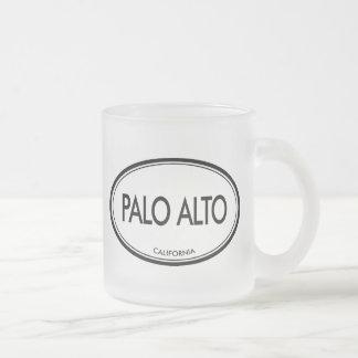 Palo Alto, California Frosted Glass Coffee Mug