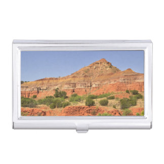 Palo Duro Canyon, Texas.  Successive rock layers Business Card Holder