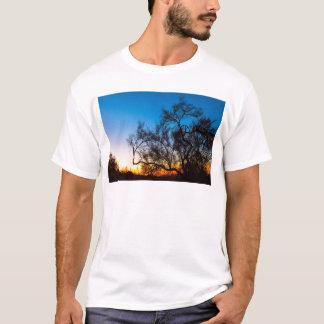Palo Verde Tree Silhouette Sunrise T-Shirt