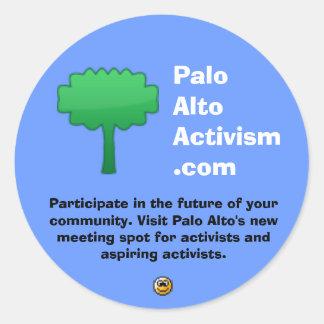 PaloAltoActivism.com Round Sticker