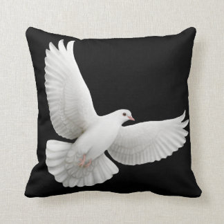 Paloma Flying White Dove Pillow