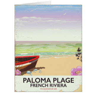 Paloma Plage, French Riviera travel poster Card