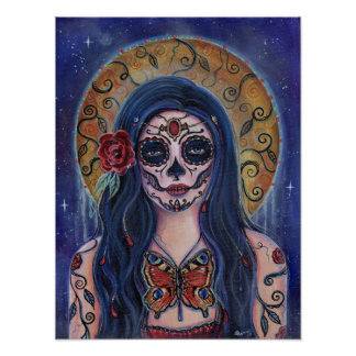 Palomilla Day of the dead poster art by Renee