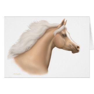 Palomino Arabian Horse Card