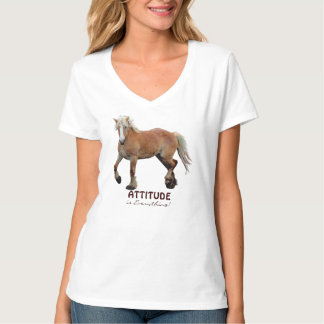 Palomino Belgian Draft Horse Sporty Apparel T-Shirt