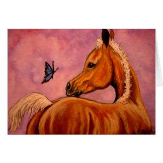 Palomino Foal & butterfly Card