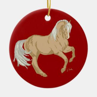 Palomino Horse Ceramic Ornament