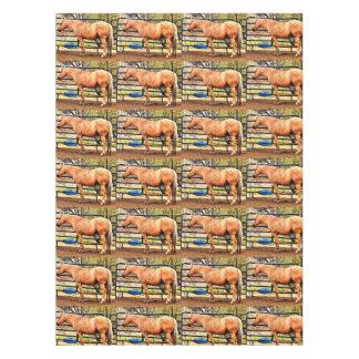Palomino Horse Custom Cotton Tablecloth
