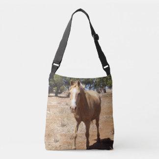 Palomino Horse Greeting, Crossbody Bag