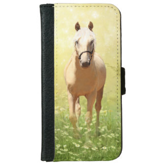 Palomino horse in daisy field iPhone 6 wallet case