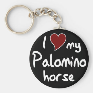 Palomino horse keychain
