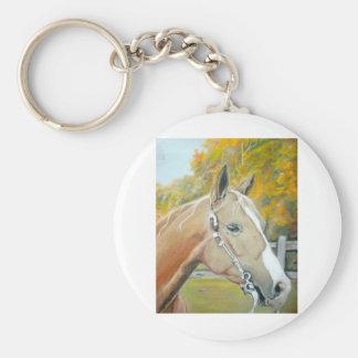 Palomino, Horse pastel Basic Round Button Keychain