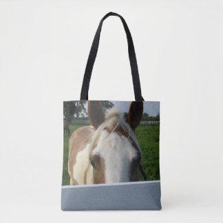 Palomino Horse Playing Peek a Boo Tote Bag