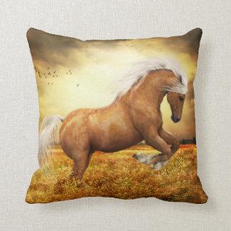 Palomino Horse Sundance Throw Pillow