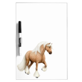 Palomino Irish Cob Horse Dry Erase Board