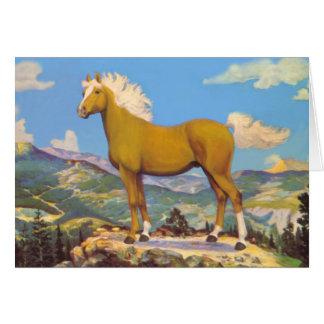 Palomino King Of The Rockies Card