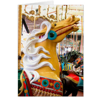Palomino Looff Carousel Horse Card